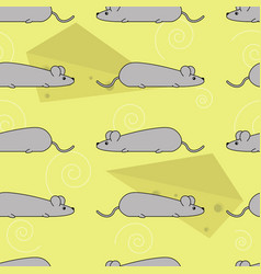 seamless pattern with mice vector image