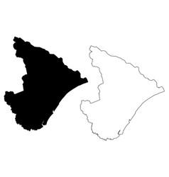 Sergipe map vector