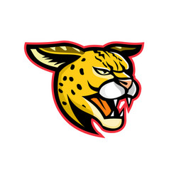 serval wild cat mascot vector image