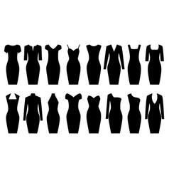 Set of black dresses vector