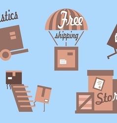 Shipping logistics vector