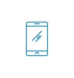 smartphone linear icon concept smartphone line vector image