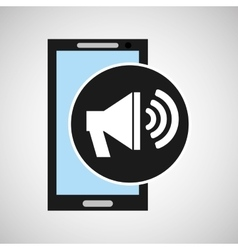 Smartphone social media speaker marketing vector
