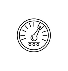 Speedometer icon element of racing for mobile vector