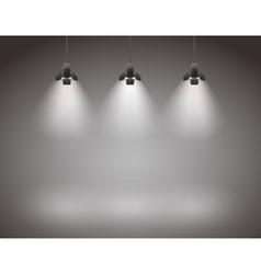Spotlights vector image
