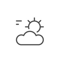 sun and cloud line icon vector image