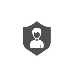 user protection simple icon male profile sign vector image