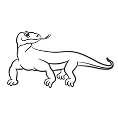 varan outlined vector image