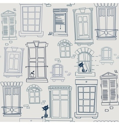 With windows seamless pattern vector