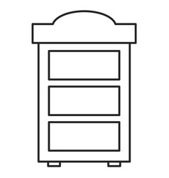 wooden shelf forniture icon vector image