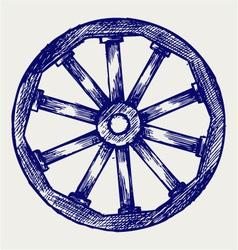 Wooden wheel vector