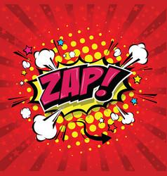 zap comic speech bubble vector image