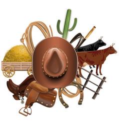 Cowboy ranch concept vector
