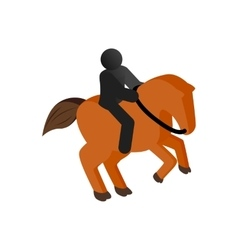 Horseback riding isometric 3d icon vector image
