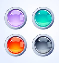 internet buttons vector image vector image
