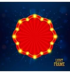 Retro light banner vector image