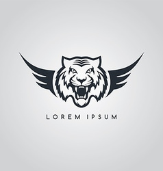 Tiger aviator symbol logo logotype theme vector