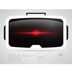 Virtual reality glasses vector image vector image