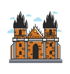 ancient castle from czech with towers and cone vector image