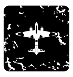 Military plane icon grunge style vector image