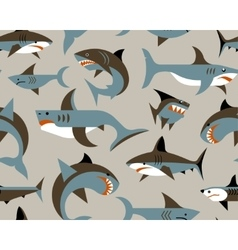 pattern with sharks vector image