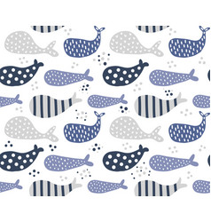 whales pattern with dots vector image vector image