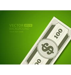 Dollars money vector image vector image