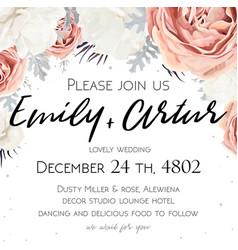 Floral wedding invitation invite save the date vector