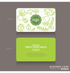 Organic foods shop or vegan cafe business card vector image