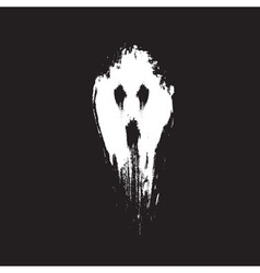 Scary ghost face vector image