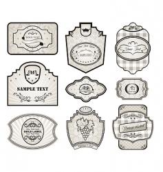 set retro variation vintage labels vector image