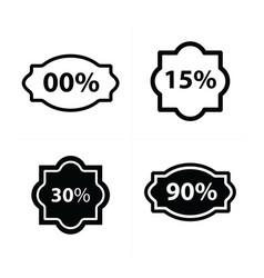Design price tags label set vector