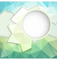 geometric background with frame for text vector image