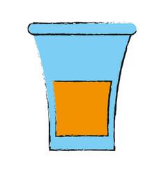 glass lemon draw vector image vector image
