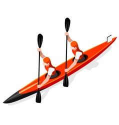 Kayak Sprint Doubles 2016 Sports 3D vector image vector image