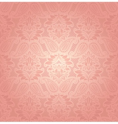 Lace pink floral background vector