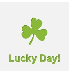 Lucky Day vector image vector image