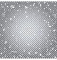snowfall transparent backdrop vector image
