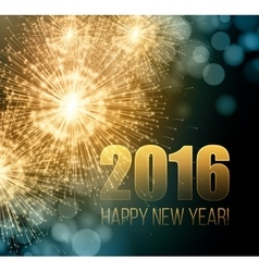 2016 New Year made a sparkler vector image
