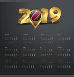 2019 calendar template namibia country map golden vector