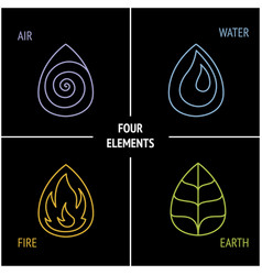 4 elements nature vector