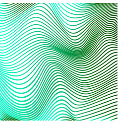 abstract curve lines background green modern vector image