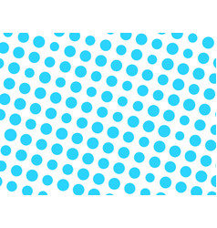 abstract geometric pattern of blue circle dots in vector image vector image