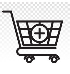 Add item shopping items - line art icon vector
