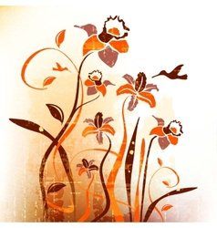 Artistic autumn backdrop background bouquet vector