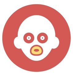 Baby Head Flat Round Icon vector