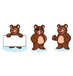 Bear Mascot happy vector