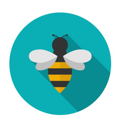 Bee icon flat vector image