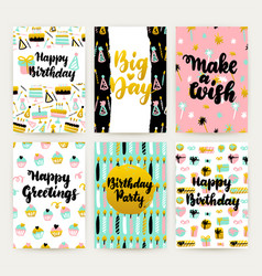 birthday party posters vector image