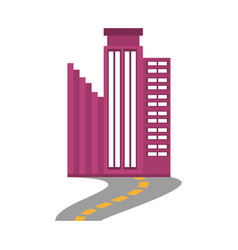 Building business trendy road vector